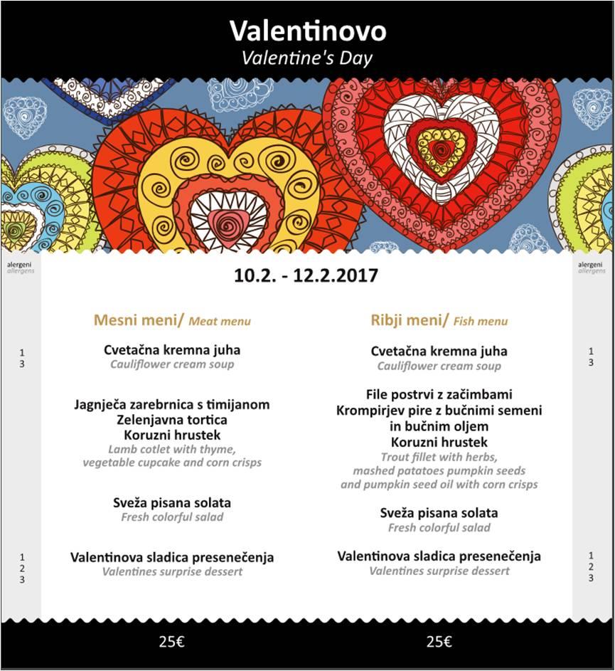 Valentinov meni / Valentine's Day